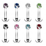 Gem Ball Labret Bar