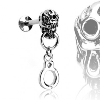Skull Handcuff Labret Bar