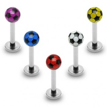 Soccer Ball Labret Bar
