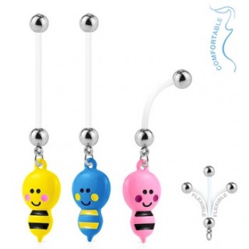 Pregnancy Bee Navel Ring Belly Dangle