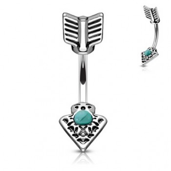 Arrow Navel Ring Belly Bar