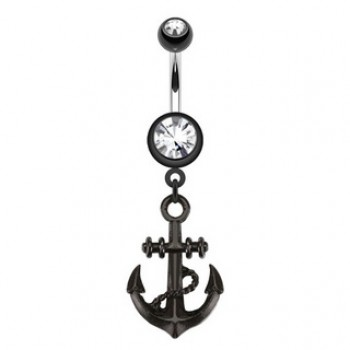 Black Anchor Navel Dangle