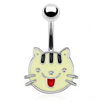 Cat Face Navel Ring