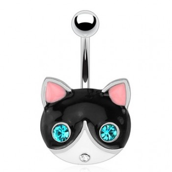 Cat Belly Bar Navel Ring
