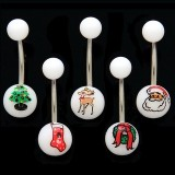 Christmas Logo Navel Ring