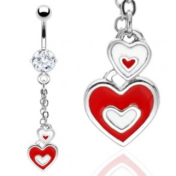 CZ Love Heart Dangle