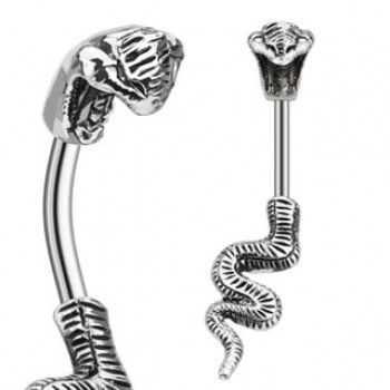Cobra Snake Navel Ring Belly Bar
