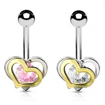 Love Heart Belly Ring