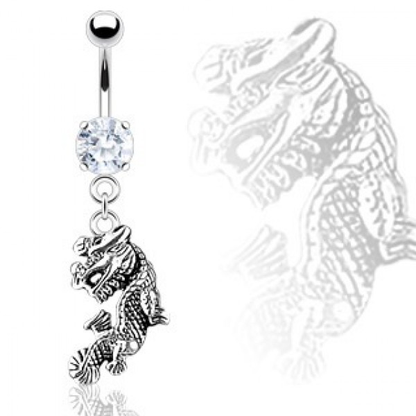 100% genuine classic best value Dragon Belly Bar Ring Navel Dangle