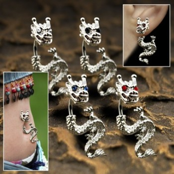 Dragon Navel Bar Ear Ring