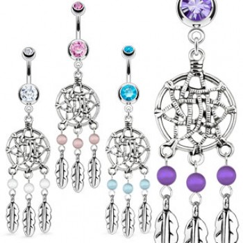 Dream Catcher Net Navel Ring Belly Dangle