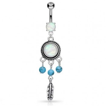 Dream Catcher Opal Dangle