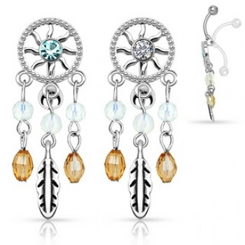 Reverse Dream Catcher Navel Dangle