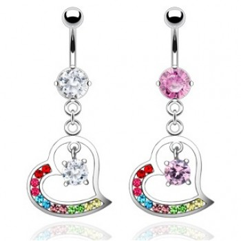 Multi Colour Heart Dangle