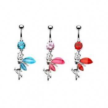 Glitter Fairy Belly Ring Navel Dangle