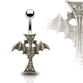 Cross Wing Navel Ring