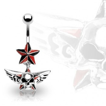 Star Skull Dangle