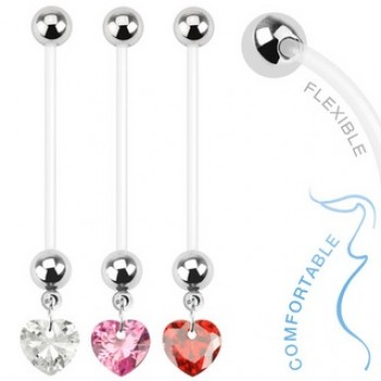 Pregnancy Love Heart Gem Belly Dangle