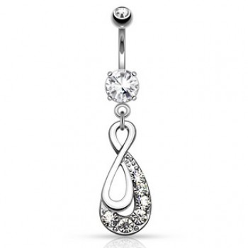 Infinity Drop Navel Ring Belly Dangle