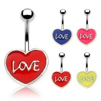 Love Heart Navel Ring