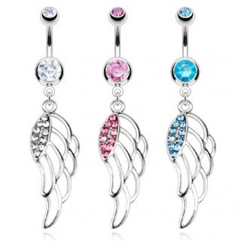 Angel Wing Belly Dangle