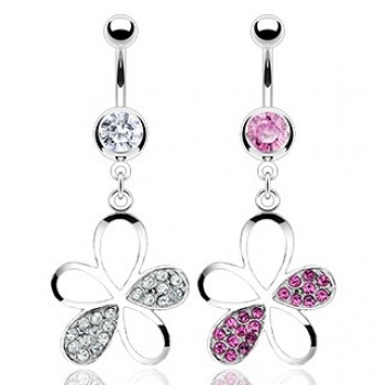 CZ Flower Dangle