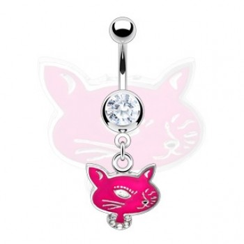 Pink Cat Face Dangle