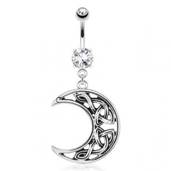 Moon Belly Ring Navel Dangle