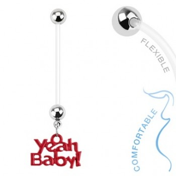 Pregnancy Yeah Baby Navel Bar Belly Dangle