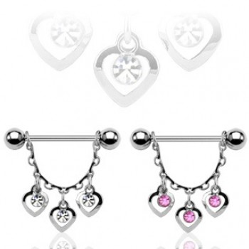 Gem Heart Dangle Nipple
