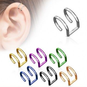 Fake Double Closure Ear Ring