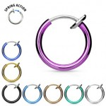 Fake Non Piercing Septum Nose Hoop Ear Ring