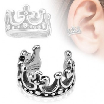 Crown Fake Ear Ring Cuff