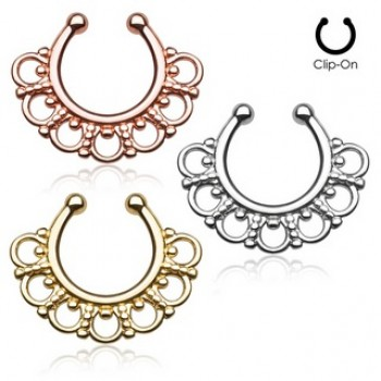 Tribal Fake Clip On Septum Hanger