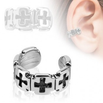 Iron Cross Fake Ear Ring Cuff