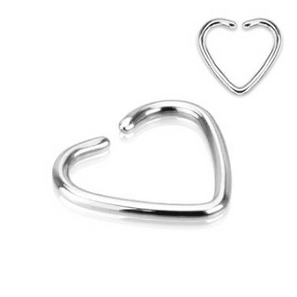fake cartilage heart ring