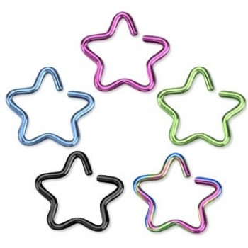 Fake Cartilage Ring Star