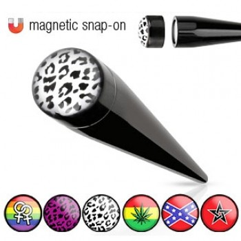 Logo Magnetic Fake Ear Taper