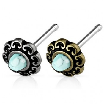 Turquoise Nose Stud