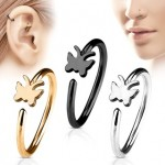 Butterfly Nose Hoop Cartilage Ear Ring