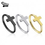 Cross Nose Hoop Cartilage Ear Ring