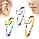 Crown Nose Hoop Cartilage Ear Ring