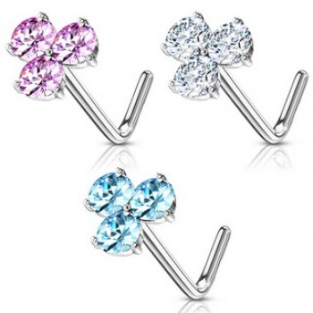 Gem Triangle Nose Stud L Bend