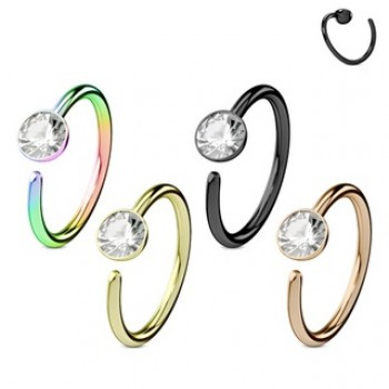 Clear CZ Nose Hoop Cartilage Ear Ring