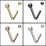 Ball L Bend Nose Stud