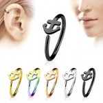 Anchor Nose Hoop Cartilage Ear Ring