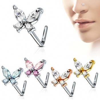 Butterfly Nose Stud L Bend
