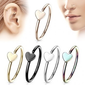 Love Heart Nose Hoop Cartilage Ear Ring