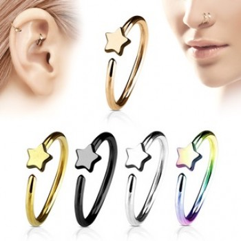 Star Nose Hoop Cartilage Ear Ring
