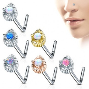 Teardrop Nose Stud L Bend